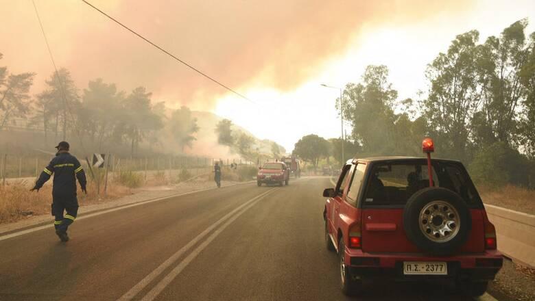 Φωτιά στην Αχαΐα: Αποκαταστάθηκε η κυκλοφορία στη Νέα Εθνική Οδό Πατρών-Κορίνθου
