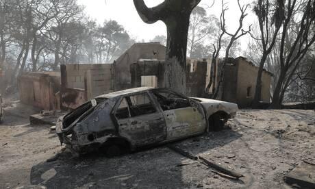 Φωτιά Αχαΐα: Εικόνες καταστροφής - Παρανάλωμα του πυρός δεκάδες σπίτια