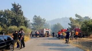 Φωτιά Ρόδος: Εκκενώνεται το χωριό Μαριτσά - Σκληρή μάχη με τις αναζωπυρώσεις