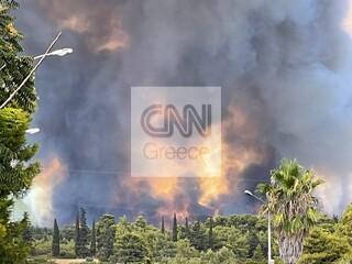 Φωτιά στη Βαρυμπόμπη - ΤΡΑΙΝΟΣΕ: Διακοπή κυκλοφορίας στο τμήμα Οινόη-Πειραιάς