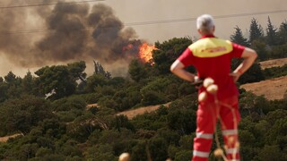 Αντιπεριφερειάρχης Πολιτικής Προστασίας: Ανεξέλεγκτη η φωτιά στη Βαρυμπόμπη