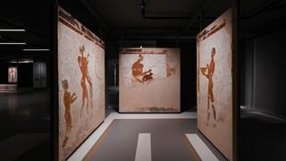 Θηραϊκές τοιχογραφίες στο Μουσείο Προϊστορικής Θήρας - Η Λίνα Μενδώνη εγκαινίασε την έκθεση