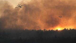Meteo: Time lapse βίντεο της φωτιάς στη Βαρυμπόμπη