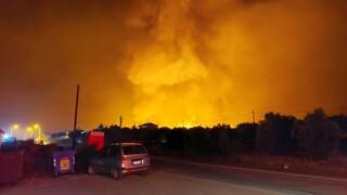 Φωτιά στην Εύβοια: Το πύρινο μέτωπο απειλεί χωριά - Τρεις πυροσβέστες τραυματίστηκαν