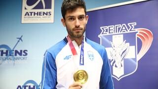 Ολυμπιακοί Αγώνες: Στην Αθήνα ο «χρυσός» Μίλτος Τεντόγλου