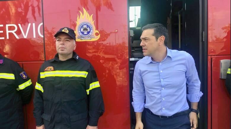 Φωτιά στην Εύβοια: Στις πληγείσες περιοχές ο Αλέξης Τσίπρας