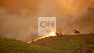 Φωτιά Βαρυμπόμπη: Εκκένωση ευπαθών ομάδων από τη δομή μεταναστών στη Μαλακάσα