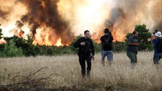 Φωτιά - Βαρυμπόμπη: Προσπάθεια από τον ΑΔΜΗΕ για προστασία του ΚΥΤ του Αγίου Στεφάνου