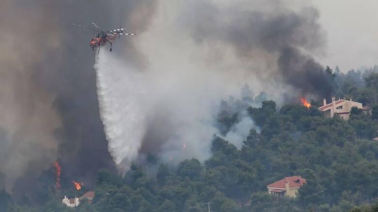 Φωτιά Αττική: Νέο μήνυμα 112 για εκκένωση σε Καπανδρίτι, Πολυδένδρι και Μαλακάσα