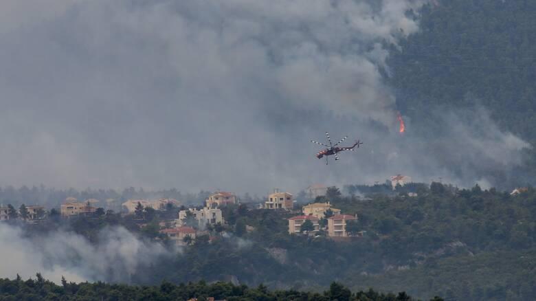 Φωτιές Αττική: Έκκληση Πατούλη για περισσότερα εναέρια μέσα