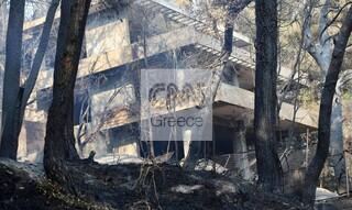 Φωτιές στην Αττική: Εικόνες καταστροφής στους Θρακομακεδόνες