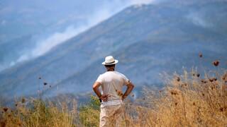 Φωτιά στην Ηλεία: Αναζωπυρώσεις απειλούν τις περιοχές Βίλλια και Δούκας