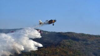 Πτώση πυροσβεστικού αεροσκάφους στη Ζάκυνθο - Σώος ο πιλότος