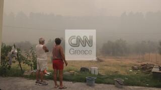 Φωτιά Εύβοια - To CNN Greece στις Γούβες: Αποπνικτική ατμόσφαιρα, εφιαλτικές εικόνες