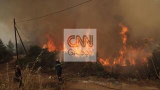 Αποστολή CNN Greece στη Β.Εύβοια: Συγκλονιστικές προσπάθειες κατάσβεσης στο μέτωπο της Γαλατσώνας