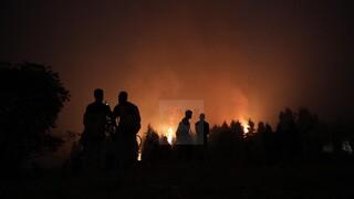 Φωτιά στη Βόρεια Εύβοια: Μάχη σε Καματριάδες και Γαλατσώνα να ανακοπεί το μέτωπο πριν την Ιστιαία