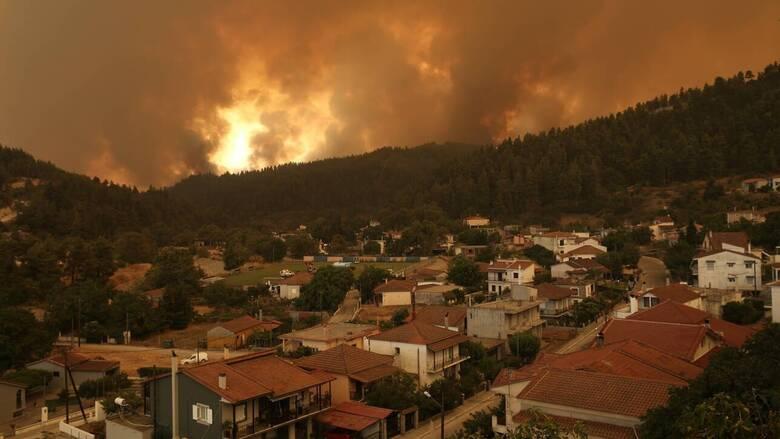 Πυρκαγιά Εύβοια: Προσαγωγή ενός ατόμου ύποπτο για εμπρησμό στο Ασμήνιο