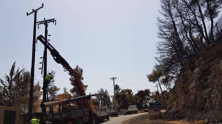 ΔΕΔΔΗE: Σε ποιες περιοχές συνεχίζονται οι εργασίες για αποκατάσταση της ηλεκτροδότησης