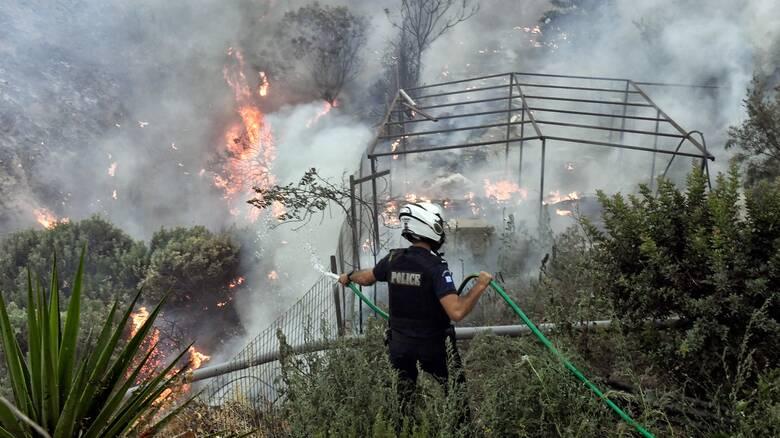 Καλύτερη η εικόνα των πυρκαγιών σε Εύβοια και Κορινθία - Παραμένουν οι περιπολίες στην Πάρνηθα