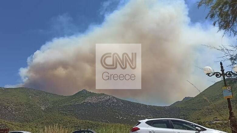 Φωτιά στα Βίλια: Σκληρή μάχη με τις φλόγες σε δύσβατη περιοχή, νέες εκκενώσεις οικισμών