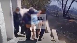Το συγκλονιστικό βίντεο από τη διάσωση της ηλικιωμένης αγνοούμενης στην Κερατέα