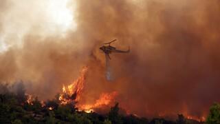 Φωτιά: Σκληρή μάχη στα Βίλια για τέταρτη ημέρα - Εκκενώθηκαν οικισμοί