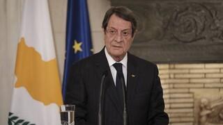 Κυπριακό - Αναστασιάδης: Είμαι αποφασισμένος να συνδράμω τις προσπάθειες του Γκουτέρες για λύση