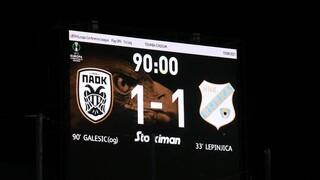 ΠΑΟΚ-Ριέκα 1-1: Λύτρωση στο φινάλε