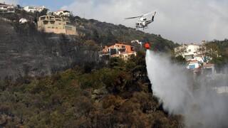 Φωτιά Κάρυστος: Οριοθετήθηκε το μέτωπο - Μάχη με τις αναζωπυρώσεις