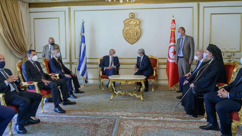 Δένδιας στην Τυνησία: Σε αντίθεση με άλλες χώρες δεν έχουμε κρυφή ατζέντα στις σχέσεις μας