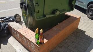 Θεσσαλονίκη: Δεκάδες βόμβες μολότοφ εντοπίστηκαν σε κάδο απορριμμάτων - Επιφυλακή ενόψει ΔΕΘ