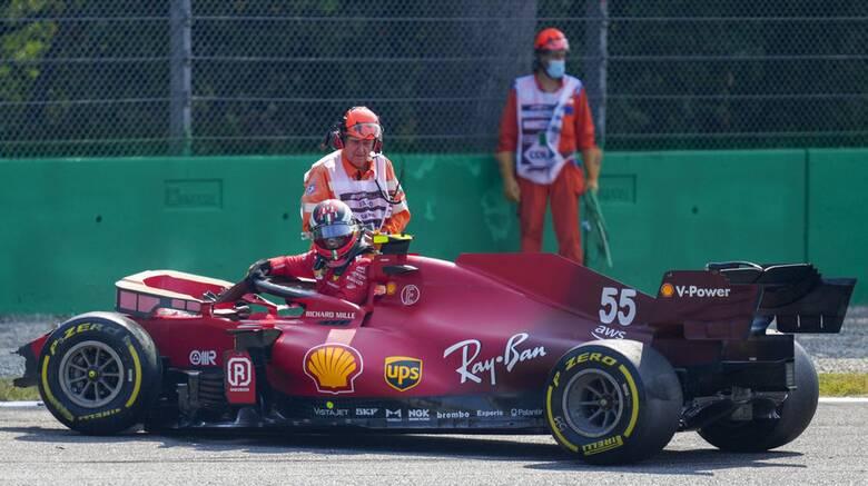 Formula 1: Σοβαρό ατύχημα για τον Κάρλος Σάινθ στην Ιταλία