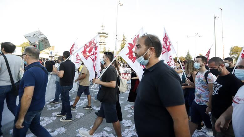 ΔΕΘ 2021: Ολοκληρώθηκαν οι πορείες στο κέντρο της Θεσσαλονίκης