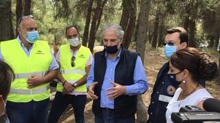 Θεσσαλονίκη: Στο δάσος του Σέιχ Σου ο Χρήστος Στυλιανίδης - Ενημερώθηκε για τα έργα καθαρισμού