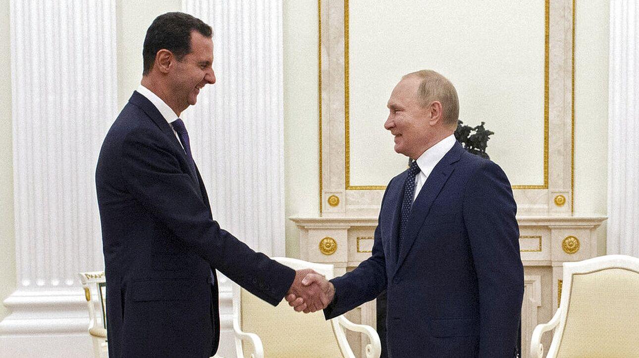 Συνάντηση Πούτιν - Άσαντ στη Μόσχα με επικρίσεις για τις ξένες δυνάμεις στον ρόλο που έπαιξαν στο δράμα της Συρίας