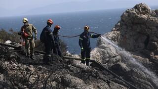 Φωτιά Κερατέα: Τέθηκε υπό πλήρη έλεγχο- Οι πρώτες εικόνες από το σημείο μετά την κατάσβεση