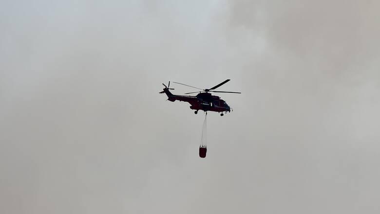 Υπό μερικό έλεγχο η πυρκαγιά στον Κάλαμο Αττικής - Κινητοποιήθηκαν επίγειες και εναέριες δυνάμεις