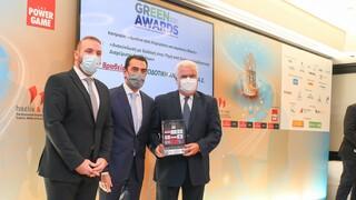 """1ο Βραβείο στα """"Green Awards 2021""""  για την ΑΝΤΑΠΟΔΟΤΙΚΗ ΑΝΑΚΥΚΛΩΣΗ"""