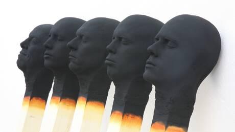 Οι περίφημοι «Άνθρωποι-σπίρτα» του Wolfgang Stiller εκτίθενται στο Λονδίνο