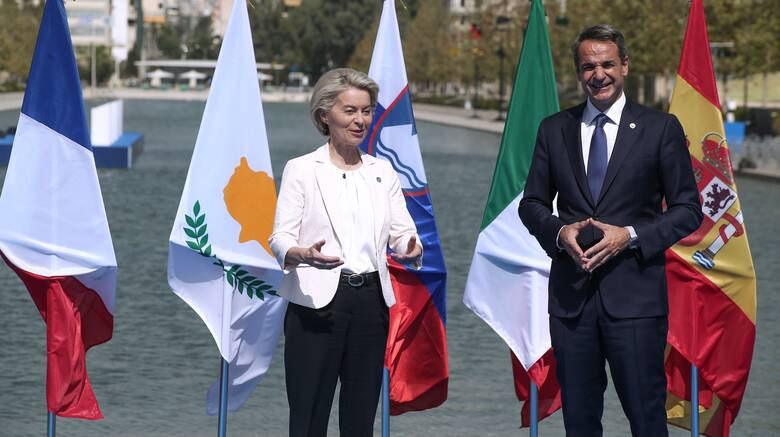 EUMED 9: Δηλώσεις Μητσοτάκη - Φον ντερ Λάιεν κατά την έναρξη της Συνόδου Κορυφής
