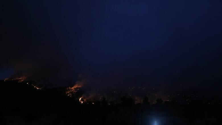 Φωτιά Αργολίδα: Υπό μερικό έλεγχο το μέτωπο - Συνεχίζεται η μάχη με τις φλόγες