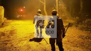 Χωρίς ενεργό μέτωπο η φωτιά στη Νέα Μάκρη - Ισχυρές ενδείξεις για εμπρησμό