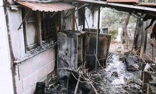 Οι καταστροφές που προκάλεσε η φωτιά στη Νέα Μάκρη