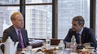 Συνάντηση Κυριάκου Μητσοτάκη με τον πρόεδρο της Microsoft στη Νέα Υόρκη
