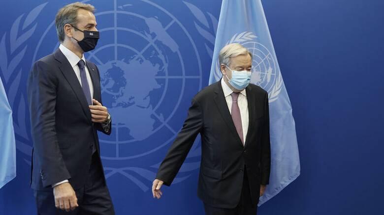 Μητσοτάκης σε Γκουτέρες: Η Τουρκία αψηφά Συμβάσεις του ΟΗΕ