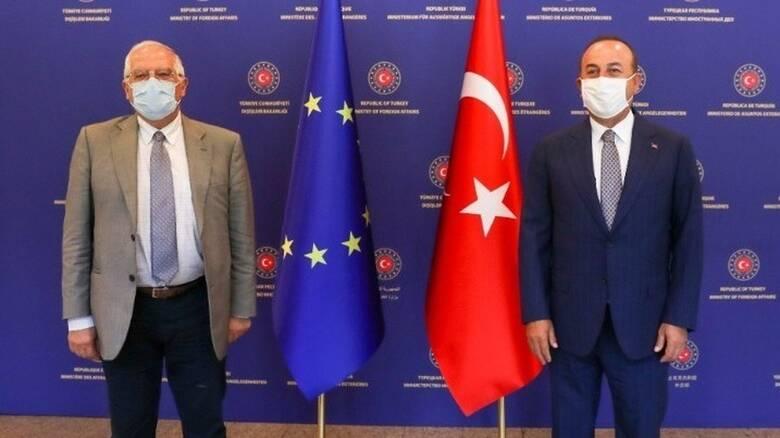Οι σχέσεις EE-Τουρκίας και το Κυπριακό στο επίκεντρο της συζήτησης Μπορέλ-Τσαβούσογλου