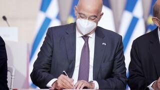 Δένδιας: H Συμφωνία Ελλάδας-Γαλλίας επιβεβαιώνει τους ιστορικούς και συμμαχικούς δεσμούς