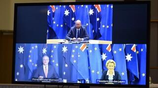 Η ΕΕ αναβάλλει τις εμπορικές διαπραγματεύσεις με την Αυστραλία στη «σκιά» της AUKUS