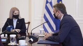 Μητσοτάκης στην πρόεδρο της κυπριακής Βουλής: Απαντούμε μαζί στις προκλήσεις στην Ανατολική Μεσόγειο