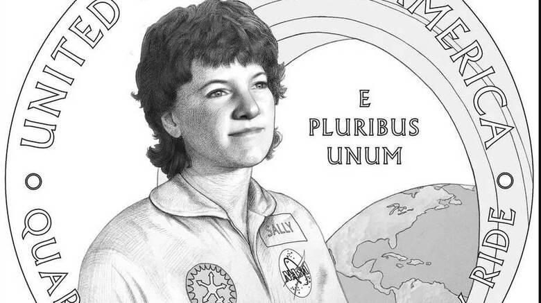 Σάλι Ράιντ: Η πρώτη Αμερικανίδα αστροναύτης στα νέα νομίσματα των ΗΠΑ